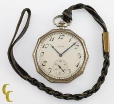 Gold Filled Decagon Elgin Antique Open Face Pocket Watch Gr 315 12S 15 Jewel - $233.83
