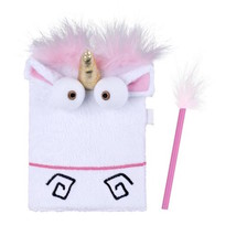 Universal Studios Despicable Me Plush Unicorn Child Diary Journal New wi... - $23.78
