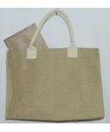 WB M225BURLAP Burlap Tote Bag Reinforced Bottom Color Tan - $34.00
