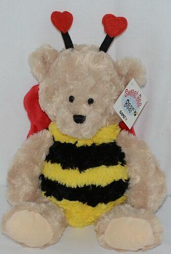 GANZ Brand HV9186 Brown Red Black Yellow Striped Sweet Bee Bear
