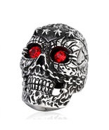 2017 New Store Fashion Punk Skull Ring 316L Stainless Titanium Steel Jewelry - $14.99