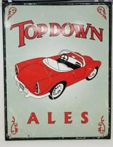 Vintage Top Down Ales Sign Metal Red Convertible - $19.79
