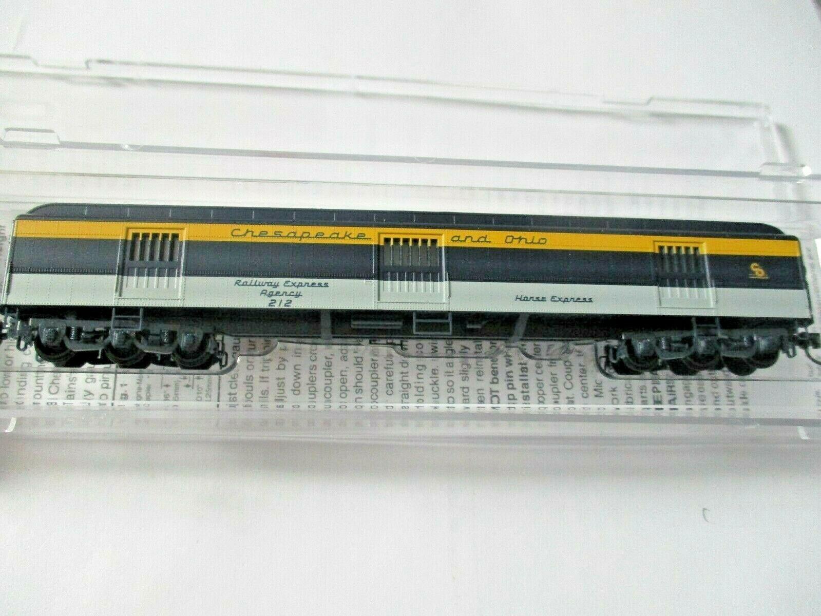 Micro-Trains #14900410 Chesapeake & Ohio 78' Heavyweight Horse Car N-Scale