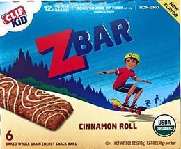 CLIF Organic Cinnamon Roll Z Bars, 7.62 OZ - $17.79