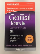 (New) GenTeal Severe Lubricant EyeGel Twin Pack 0.34oz x 2 Exp 02/2019 - $16.29