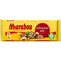 Marabou Of Sweden Chocolate Bar: Nuts 180g Free Us Shipping - $11.87