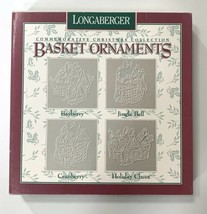 Longaberger Christmas Ornaments set Basket Ornaments 1997 NEW 4 pieces - $12.73