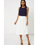 Cream Full Midi Scuba Stretch Fit Skirt 8 , 10 , 14 NEW - $15.11