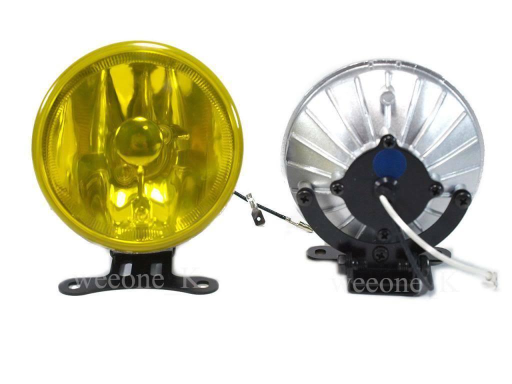 "DLAA H3 12V 55W 4"" YELLOW UNIVERSAL FOG LIGHT LAMP"