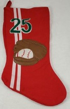 Santa's Best BASEBALL & Mitt #25 Red Christmas Stocking  - $19.99