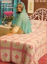 Vtg Crochet Afghan Bathmat Bedspread Shawl Tablecloth Hoodie Tunic Patterns - $12.99