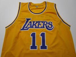 KARL MALONE / NBA HALL OF FAME / AUTOGRAPHED L.A. LAKERS CUSTOM JERSEY / COA image 2