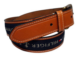 Tommy Hilfiger Men's Premium Ribbon Inlay Anchor Logo Leather Belt 11TL02X032 image 11