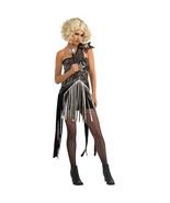 Licensed Lady Gaga Rock Star Adult Black Silver Star Costume, Rubies 889977 - $44.99