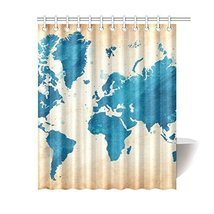 Sweety Love Store-Unique Design World Map Custom 12 Holes To Which Rings Attach  - $30.99