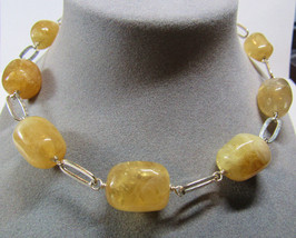 Sterling Silver Department Store Chunky Freeform Citrine November Stone ... - $74.25