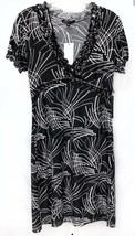 NWT $240 BCBG Max Azria Size XS Surplice Empire Waist Black White Womens... - $75.05