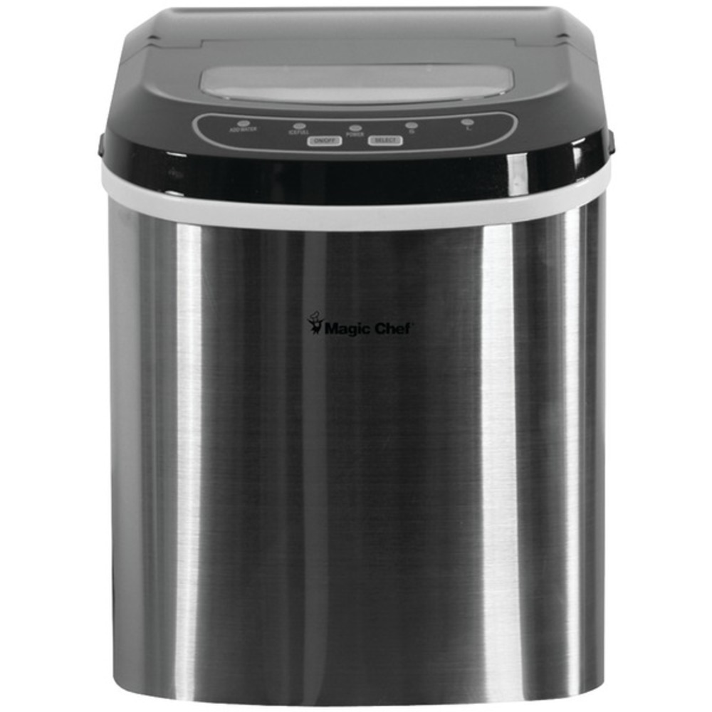 MAGIC CHEF(R) MCIM22ST 27-Pound-Capacity Portable Ice Maker (Stainless with Blac - $175.99
