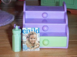 Barbie Kelly Baby Step & Store Toddler Dolls Purple fits Fisher Price Dollhouse - $5.93