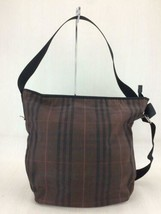 Burberry London Shoulder Bag Canvas Brown Color Check Overall Usability Used - $201.95
