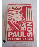 Vintage Paulson Maxim Las Vegas Red Linen Finish Casino Played Playing C... - $11.87