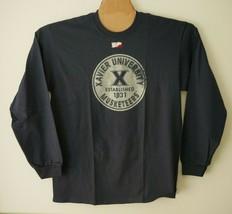 NCAA Xavier Musketeers 100-Percent Pre-Shrunk Vintage Circle LS Tee Sz L NWT - $13.86