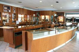 18K WHITE GOLD PENDANT EARRINGS, BIG ORANGE AMBER 16 MM SPHERES, 1.8 INCHES image 6