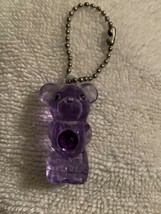MINIATURE PURPLE CARE BEAR  KEYCHAIN  Share Bear(?)  About 1 1/2 inches ... - $4.95