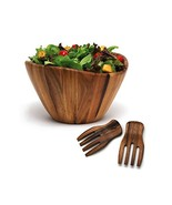 Lipper International Wave Bowl with Salad Hands, Brown - $74.08