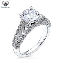 1.25Ct Diamond Round Cut 14k White Gold Plated 925 Silver Women's Weddin... - ₨7,076.42 INR