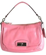NWT Coach Kristin Leather Flap East West Crossbody Shoulder Bag 22308  Rose Pink - $116.62