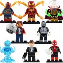 8pcs/set Marvel Spider-Man Ned Leeds Hydro-Man Maria Hill Mysterio Minifigures - $14.98