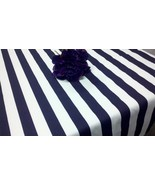 STRIPED TABLECLOTH COLORS -  stripe table cloth,  round, rectangle, or s... - $59.99