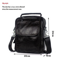 MVA Genuine Leather Men Bag Mini Shoulder Crossbody Bags Men Messenger B... - $38.98