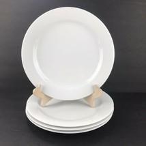 Lot of 4 Noritake ARCTIC WHITE #4000 Dinner Plates Contemporary Embossed Rim - $98.99