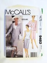 McCalls 9483, Misses Jacket, Top & Skirt, Size 14 - $6.95