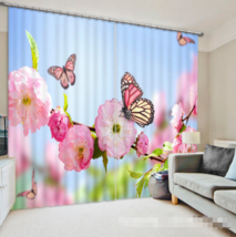 3D Butterfly 0223Blockout Photo Curtain Print Curtains Drapes Fabric Window UK - $145.49+