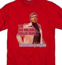 The Six Million Dollar Man Retro 70's Sci-Fi TV series graphic t-shirt NBC534 image 3