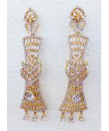 Gorgeous American Diamante Fashion Earrings Ethnic Indian Wedding Jhumki... - $28.98