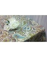 PAISLEY TABLECLOTHS - Size 54 X 54, 72, 84 96 108  120  Black white or B... - $59.00