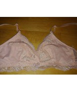 SMART & SEXY PEACH LACE BRA-34-BARELY WORN-LOVELY-NARROW STRETCH STRAPS - $8.90