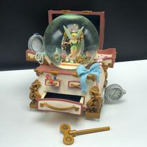 WALT DISNEY SNOWGLOBE snowdome water ball Tinker bell treasure chest peter pan - $445.50