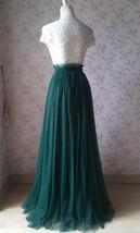 Dark Green Split Maxi Skirt Dark Green Bridesmaid Tutu Skirt with Split (US0-30) image 4