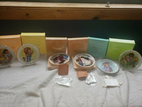 "set of 6 Porcelain Plates 5"" AVON mothers day plates 1981-1986"