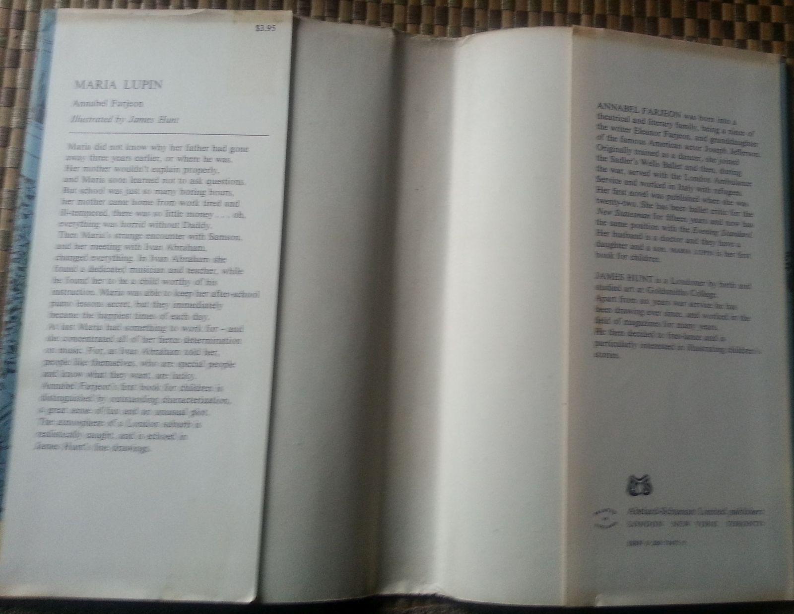 Maria Lupin by Annabel Farjeon 1970 HBDJ Piano Prodigy