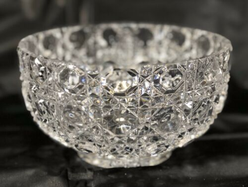 Primary image for Vintage Windsor Pattern Button & Cane Round Crystal Medium Bowl ABB002