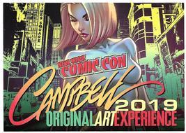 J Scott Campbell Original Comic Art Experience Postcard NYC Comicon NYCC... - $4.99