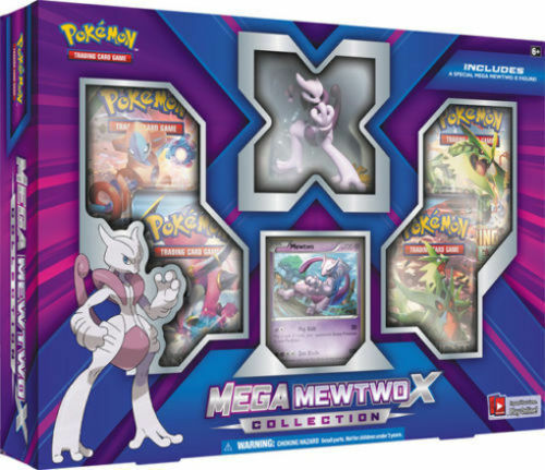 Mega Mewtwo X Collection Box & Charizard EX Box, Pokemon Trading Cards + BONUS