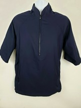 FootJoy Dryjoys Tour Collection Navy Blue 3/4 Sleeve Half-zip Golf Jacket Size M - $49.49