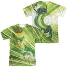 Authentic DC Original Green Lantern Rays of Light Sublimation Front Back T-shirt - $30.99+